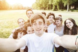 Friends Selfie In the Park